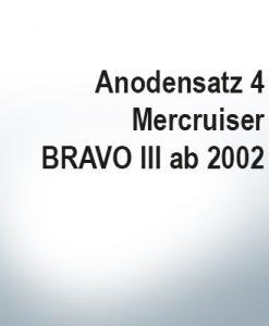 Serie di anodi | Mercruiser BRAVO III à partir de 2003 (Zinco)