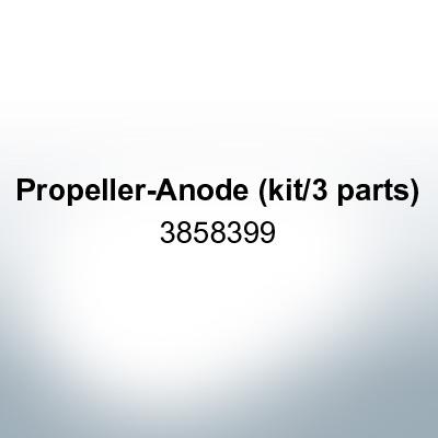 Anodi compatibili con Volvo Penta | Anodo ad elica (set triplo) 3858399 (Zinco)