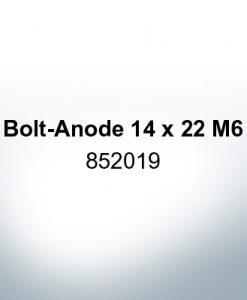 Anodi compatibili con Volvo Penta | Anodi a spillo 14 x 22 M6 852019 (Zinco)