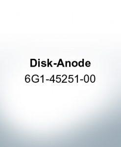 Anodi compatibili con Yamaha e Yanmar | Anodi a disco 6G1-45251-00 (Zinco)
