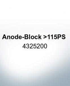Anodi compatibili con Yamaha e Yanmar | Anodes de bloc >115PS 4325200 (Zinco)