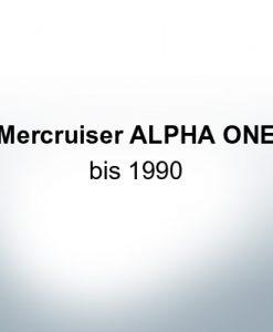 Serie di anodi | Mercruiser ALPHA ONE jusqu'à 1990 (Zinco)