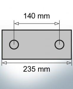 Anodi di blocco e di fusoliera Blocco L235/140 (Zinco)