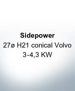Sidepower 27ظ H21 conico Volvo 3-4,3 KW (Zinco)