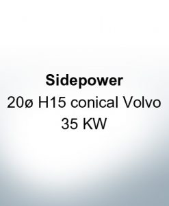 Sidepower 20ظ H15 conico Volvo 35 KW (AlZn5In)
