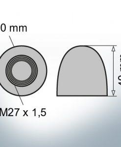 Dadi a cupola M27x1,5 Ø40/H40 (Zinco)