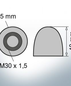 Dadi a cupola M30x1,5 Ø45/H40 (Zinco)