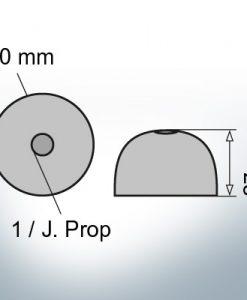 Cappucci a un foro | J. Prop Ø60/H27 (Zinco)