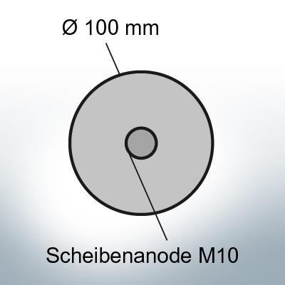 Anodi a disco Ø 100 mm | Paio (Zinco)
