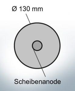 Anodi a disco Ø 130mm |  foro passante (Zinco)