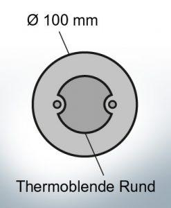 Schermo termico rotondo Ø100 mm (Zinco)
