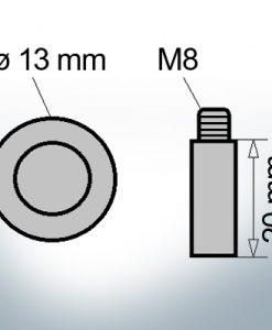 Anodi a spillo M8 Ø13/L20 (Zinco)