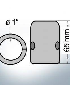 Anodi ad onda con diametro interno in pollici 1'' (Zinco)