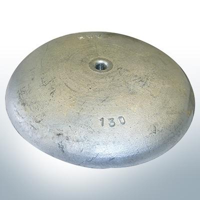 Anodi a disco Ø 130mm | foro passante (Zinco) | 9814
