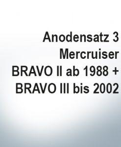 Sets of anodes | Mercruiser BRAVO II since1988 BRAVO III until 2002 (Zinc) | 9701 9702 9721