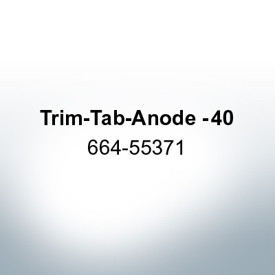 Anodes compatible to Mercury | Trim-Tab-Anode -40 664-55371 (AlZn5In) | 9716AL