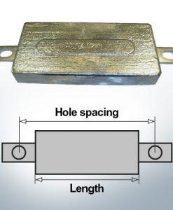 Anodi di blocco e di fusoliera Quadrato L150/185 (AlZn5In)   9300AL