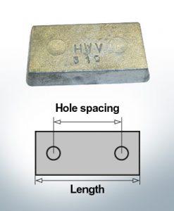 Anodi di blocco e di fusoliera Blocco L80/40 (Zinco) | 9310