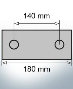 Block- and Ribbon-Anodes Block L180/140 (AlZn5In)   9317AL