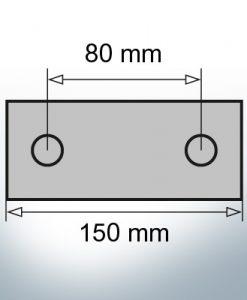 Block- and Ribbon-Anodes Block L150/80 (AlZn5In)   9326AL