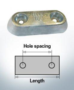 Anodi di blocco e di fusoliera Blocco L150/80 (AlZn5In)   9326AL