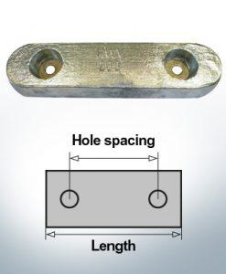 Anodi di blocco e di fusoliera Blocco L230/150 (AlZn5In)   9338AL