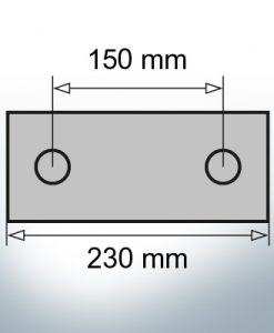 Block- and Ribbon-Anodes Block L230/150 (AlZn5In)   9338AL