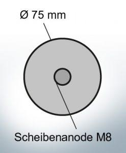 Disk-Anodes Ø 75mm | M8 (Zinc) | 9805