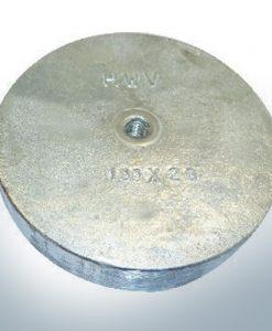 Anodi a linguetta di rifinitura con M8 100x20 Ø100 mm (AlZn5In)   9813AL