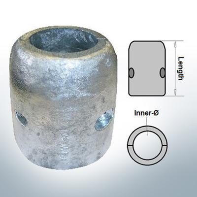Anodo ad onda con diametro interno metrico 50 mm (Zinco) | 9007
