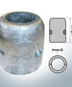Anodo ad onda con diametro interno metrico 90 mm (Zinco)   9014