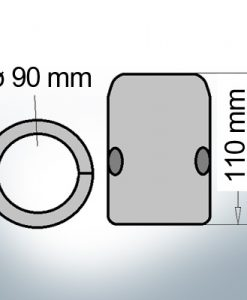 Shaft-Anode with metric inner diameter 90 mm (Zinc)   9014