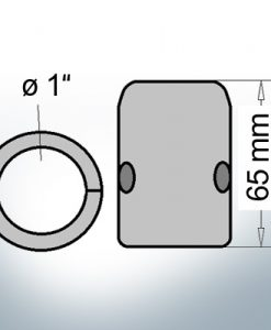 Shaft-Anodes with imperial inner diameter 1'' (Zinc)   9016