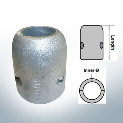 Anodi ad onda con diametro interno in pollici 1 1/2'' (Zinco)   9018