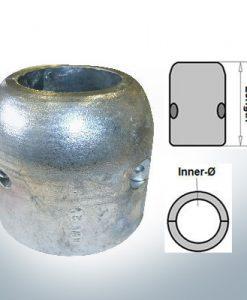 Anodi ad onda con diametro interno in pollici 2 1/4'' (Zinco)   9021