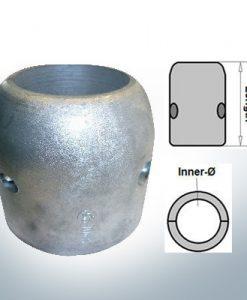 Anodi ad onda con diametro interno in pollici 3'' (Zinco)   9024