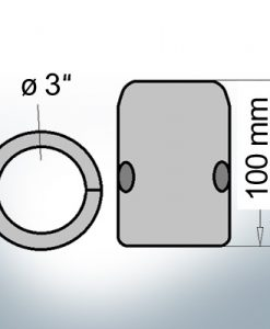 Shaft-Anodes with imperial inner diameter 3'' (AlZn5In) | 9024AL