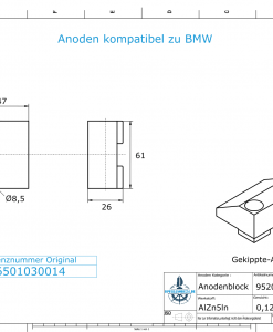 Anodes compatible to BMW | Anodenblock 96501030014 (AlZn5In) | 9520AL