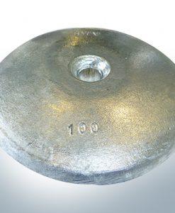 Anodi a disco Ø 100mm | foro passante (Zinco) | 9801