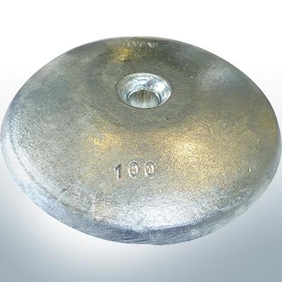 Anodi a disco Ø 100mm | foro passante (AlZn5In) | 9801AL