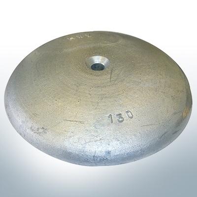 Anodi a disco Ø 130mm | foro passante (Zinco) | 9815