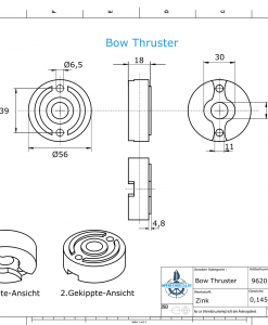 Bow Thruster BP-1185 75-80-95 Kgf (Zinc)   9620
