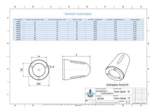 Three-Hole-Caps | Max Prop 100 Ø100/H66 (AlZn5In) | 9603AL