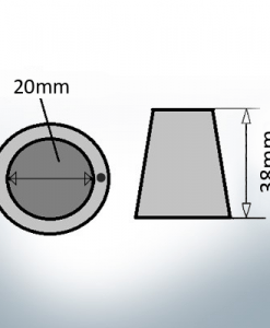 Shaftend-Anodes with carrier punch 20 mm (AlZn5In)   9635AL