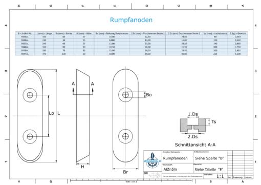 Block- and Ribbon-Anodes Block L450/225 (AlZn5In)   9344AL