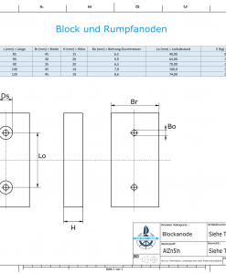 Block- and Ribbon-Anodes Block L80/40 (AlZn5In) | 9310AL