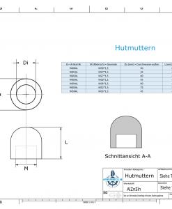 Nut-Caps M16x1,5 Ø45/H40 (AlZn5In) | 9450AL