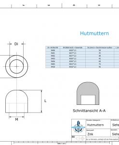 Nut-Caps M52x1,5 Ø75/H50 (Zinc) | 9405