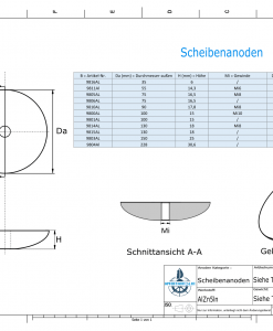 Disk-Anodes Ø228 mm (AlZn5In)   9804AL