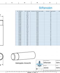 Bolt-Anodes 7/16'' 20G Ø16/L40 (AlZn5In)   9103AL